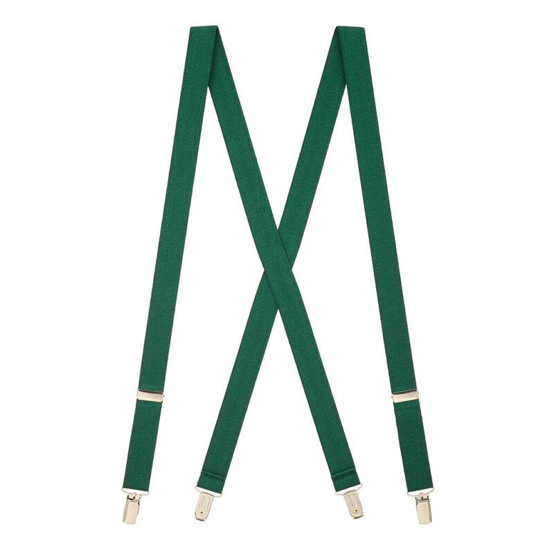 Solid Color Suspenders - 1-inch Wide Clip (x-back)