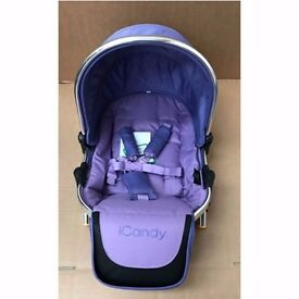 iCANDY PEACH BLOSSOM SECOND SEAT PARMA VIOLET BRAND NEW WITH RAINCOVER - NW9 8UA COLLECTION