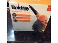 Beldray 1000w steam cleaner.