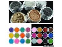 Eyeshadow pigments/glitter pots
