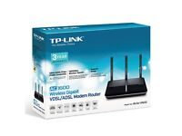 TP-Link AC1600 Wireless Dual Band Gigabit VDSL/ADSL Modem Router for Phone Line