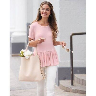 Mud Pie E8 Women's Fashion Candy Pink Mason Flounce Top 8513167P Choose Size Mud Pie Fashion
