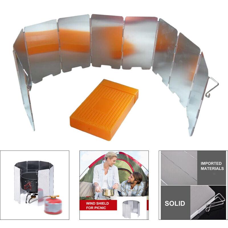Camping Stove Windscreen, Portable Folding Stove Windshield, Camping Windscreen