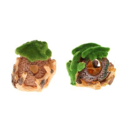 Mini Resin Moss House Ornament for Aquarium Fish Tank Microlandscape Decoration