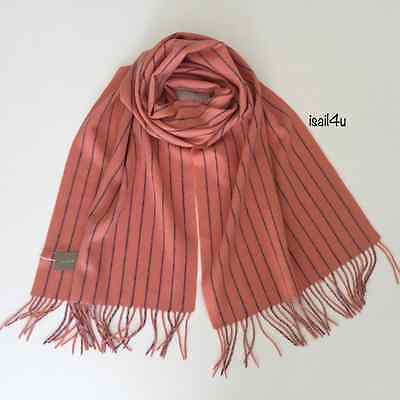 J. Crew Collection Pinstripe Cashmere Scarf NWT Color: Sundrenched Coral for sale  Portsmouth