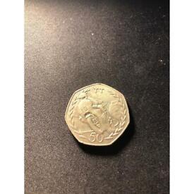 Isle of Man Elizabeth 2 1982 50 p coin