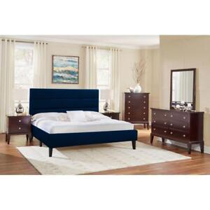 LifeStyle Solutions LF-BRKQBGU2630 Upholstered Bed Queen Blue (New other)
