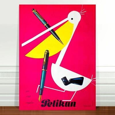 "Vintage Advertising Poster Art ~ CANVAS PRINT 16x12"" Pelican Cigarettes"