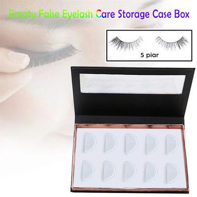Empty False Eyelash Care Storage Case Box Container Holder Compartment 5 pairs