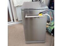 Silver slimline dishwasher