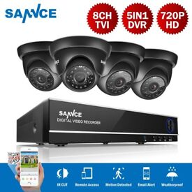 SANNCE 8CH 720P DVR Outdoor Night Vision CCTV Security Camera System