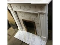Mantle, Marble Back and Hearth