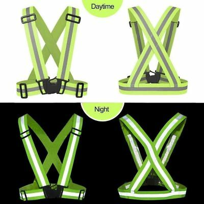 Security Reflective Vest High Visibility Safety Belt Stripe Strap Night Running