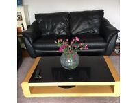 IKEA leather sofa 3 and 2 seater