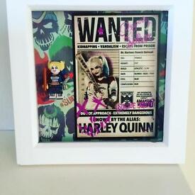 Harley Quinn/Joker suicide squad Figure Box Frame