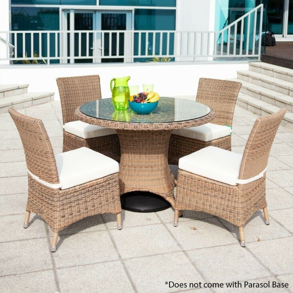 4 Seater Outdoor Garden Dining Set Rattan New