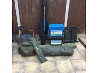 Used carp and corse fishing set up