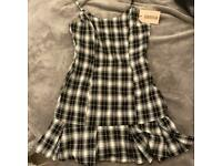 Girls checked mini dress