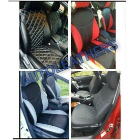 CAR LEATHER SEAT COVERS FOR TOYOTA PRIUS TOYOTA PRIUS PLUS TOYOTA AURIS TOYOTA AVENSIS TOYOTA VERSO