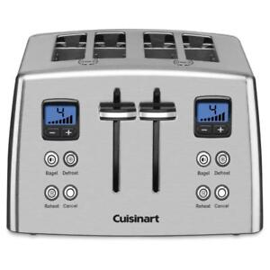 NEW Cuisinart CPT-435C 4-Slice Countdown Mechanical Toaster Silver