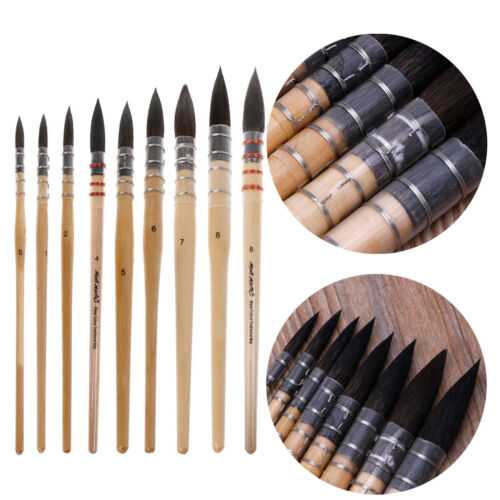 Handmade Squirrel's Hair Artist Watercolor Paint Brush For W