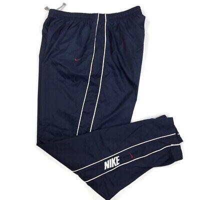 Nike Men's Vintage Nylon Track Pants Spell Out Logo White Tag Size XXL 2XL