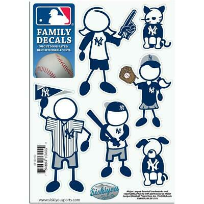 New York Yankees Family Decals 6 Pack  MLB Small Auto Car St