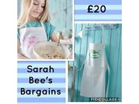 ❤️KIDS PERSONALISED BUTTERFLY/DINOSAUR APRON❤️