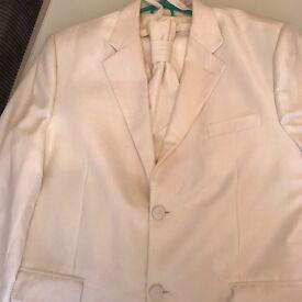 Ivory wedding suit