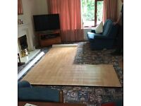 Vinyl Flooring - Wood Floor Board Effect, suitable toilet or ensuite. Good quality. Remnant New .