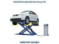 Brand New Portable Scissor Vehicle Lift 2.8 Ton Capacity Mid-Rise Peak E4G E280