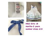M&S Girls Summer Dress
