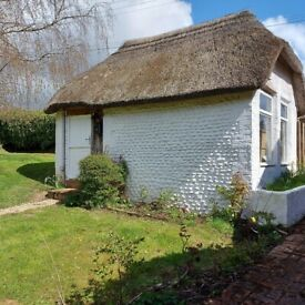 Thatched private office or artist studio - Light and full of character, use of garden and parking
