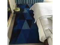 Large Ikea Rug - Geometric - Blue - 170 x 240 cm