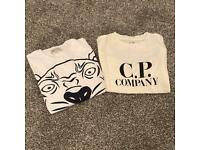 Kids age 4 Kenso and C.P. company T-shirts
