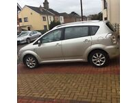 A very good and strong Toyota Avensis Verso 7 seater family car with service history for quick sale