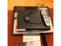 Sky + HD box with remote control, mains cable, box and manual