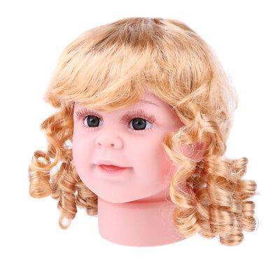 Baby Girls Mannequin Head Plastic Head Display Wig Hat Display Manikin 15