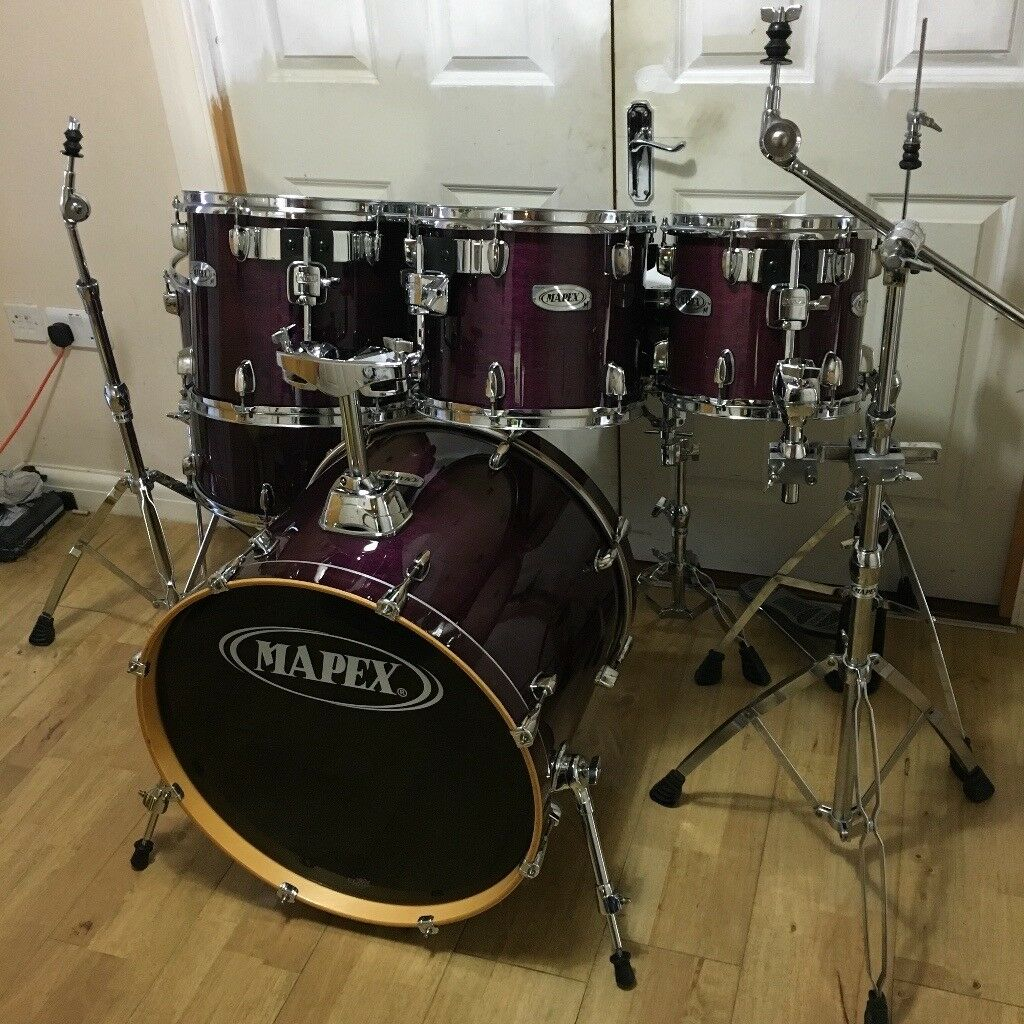 Fully Refurbished 6 Piece Mapex M Series Drum Kit (Purple Lacquer) ~Free Local Delivery~