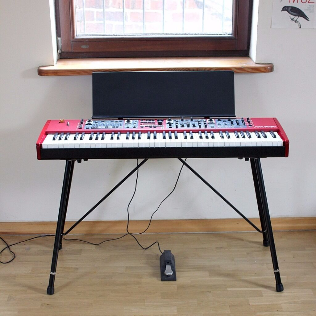 nord stage 2 ha76 with nord music stand ex keyboard stand ex cover in didsbury manchester. Black Bedroom Furniture Sets. Home Design Ideas
