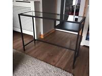 Ikea Vittsjo Desk Laptop Table Glass Black/Brown