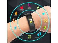 Set Fitness Tracker Screen Smartwatch + Bluetooth Headphones IPX7 Waterproof gym