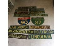 AMERICANA VINTAGE PUB THEMING, road signs, professionally made out of MDF man caves, sheds