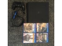 PS4 slim 500GB ( including games and headset )
