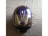 Motocycle crash helmets HJC is l and BOX is xxl