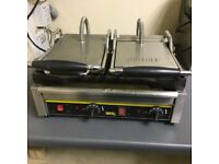 Buffalo pro commercial double contact grille panini maker