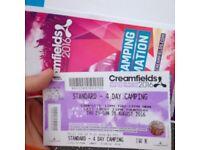MUST GO!! Creamfields 4 day standard ticket