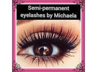 Semi pemanent eyelashes extensions