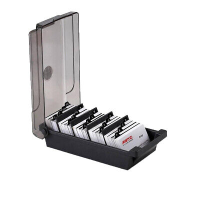 Office Supply Divider Index Tabs Business Card Box File Organizer 500 Cards