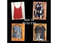 Ladies tops size 16 (Joblot)